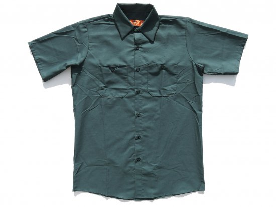 <img class='new_mark_img1' src='https://img.shop-pro.jp/img/new/icons53.gif' style='border:none;display:inline;margin:0px;padding:0px;width:auto;' />RED KAP  SHORT  SLEEVE  INDUSTRIAL  WORK SHIRT レッドキャップ  半袖ワークシャツ  SP24  SPRUCE GREEN