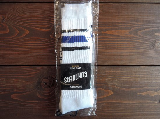 GUNTHERS ガンターズ ORIGINAL SKATE SOCKS  BLUE x BLACK