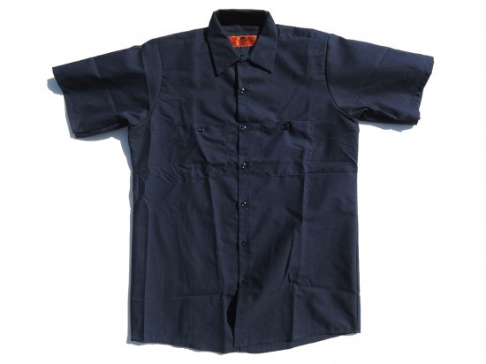 <img class='new_mark_img1' src='https://img.shop-pro.jp/img/new/icons53.gif' style='border:none;display:inline;margin:0px;padding:0px;width:auto;' />RED KAP SHORT SLEEVE INDUSTRIAL WORK SHIRT レッドキャップ 半袖ワークシャツ SP24 NAVY  ネイビー