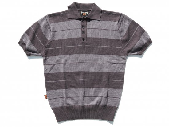 FB COUNTY  Classic Charlie Brown Shirt ニットポロシャツ Charcoal x Gray