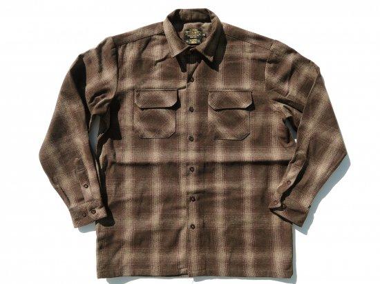 FB COUNTY Wool Blend Long Sleeve Shirt ウールブレンドシャツ BROWN