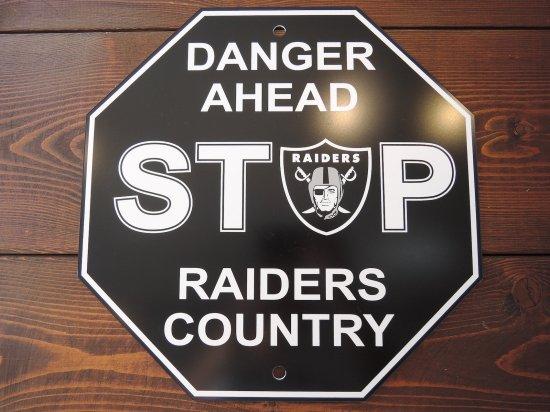 RAIDERS  STOP SIGN BOARD レイダース  ストップ  サインボード