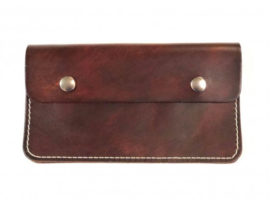 LEATHER  7INCH CHAIN  WALLET  チェーンつき 7インチ ロングウォレット BROWN  USA製