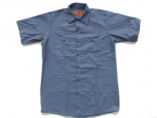 <img class='new_mark_img1' src='https://img.shop-pro.jp/img/new/icons53.gif' style='border:none;display:inline;margin:0px;padding:0px;width:auto;' />RED KAP SHORT SLEEVE INDUSTRIAL WORK SHIRT レッドキャップ 半袖ワークシャツ SP24  POSTMAN BLUE