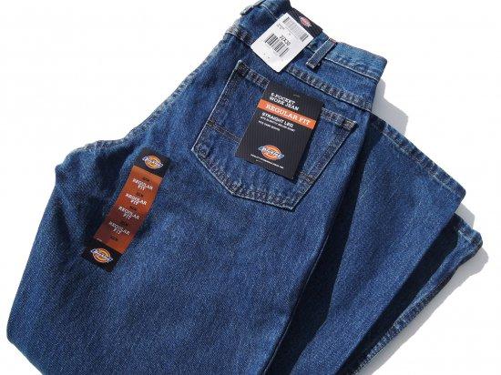 Dickies ディッキーズ  #9393  Regular Straight Fit 5 Pocket Denim Jeans  ストーンウォッシュ #9393SNB  USA規格