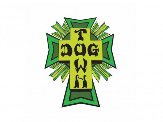 DOGTOWN  ドッグタウン Sticker Cross Logo Green
