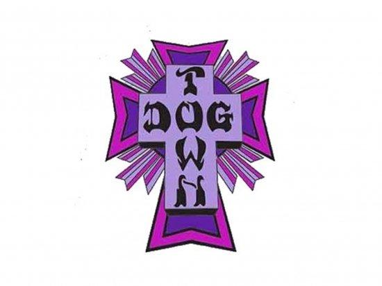 DOGTOWN  ドッグタウン Sticker Cross Logo Purple