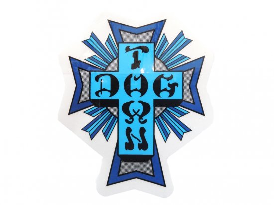 DOGTOWN  ドッグタウン Sticker Cross Logo Blue