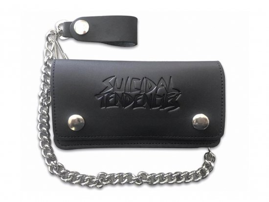SUICIDAL TENDENCIES スイサイダルテンデンシーズ ST LEATHER CHAIN WALLET