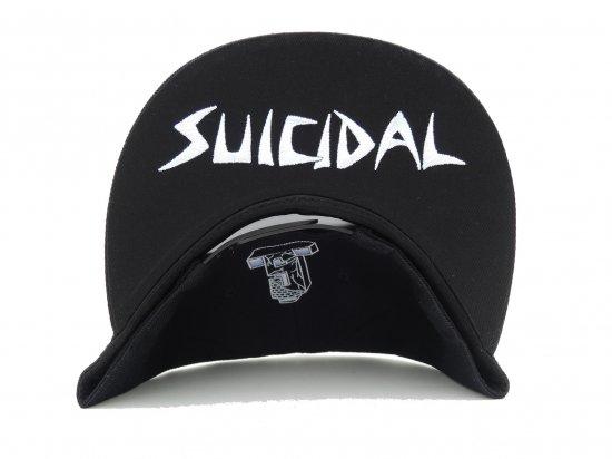 SUICIDAL TENDENCIES スイサイダルテンデンシーズ ST Full Embroidered Custom Baseball Snapback Hats BLACK