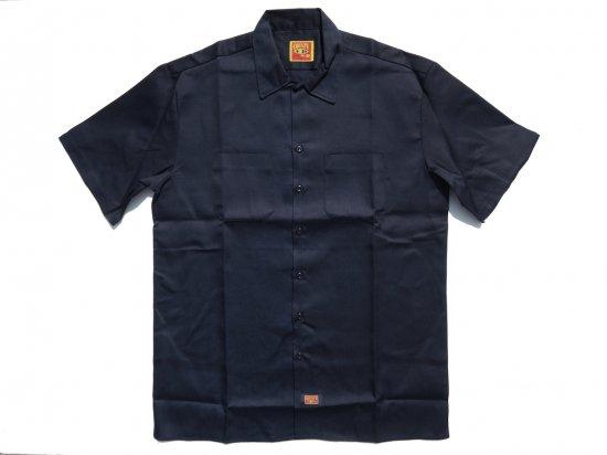 FB COUNTY Short  Sleeve Work Shirt ワークシャツ Kackie NAVY ネイビー