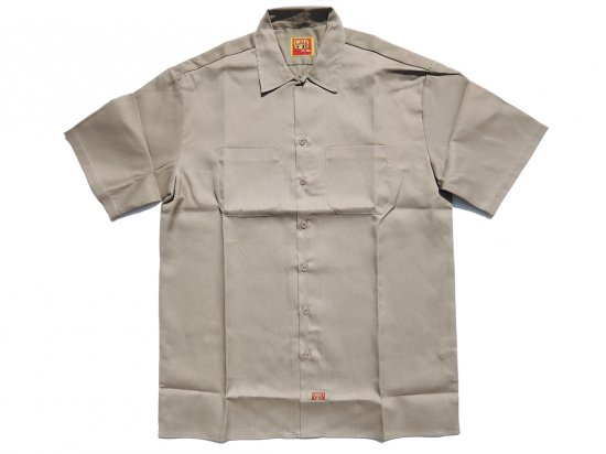 FB COUNTY Short  Sleeve Work Shirt ワークシャツ Kackie KHAKI カーキ