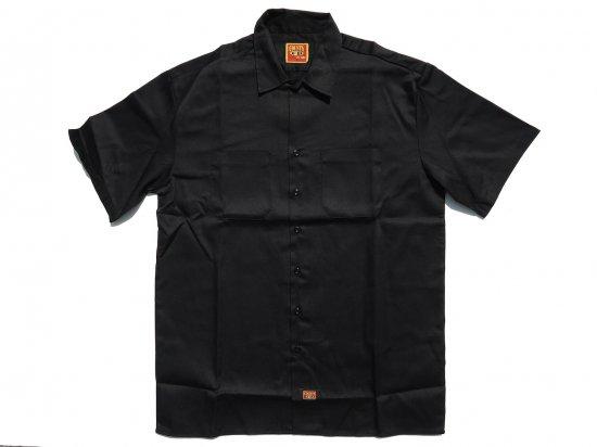 FB COUNTY Short  Sleeve Work Shirt ワークシャツ Kackie BLACK ブラック