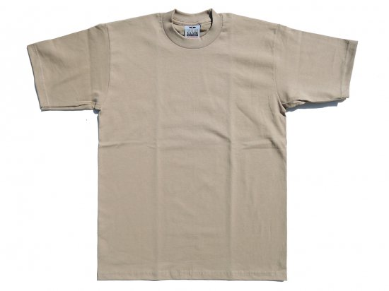 PRO CLUB プロクラブ  Men's Heavyweight Short Sleeve Tee KHAKI