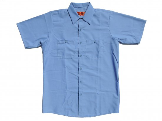 RED KAP SHORT SLEEVE INDUSTRIAL WORK SHIRT レッドキャップ 半袖ワークシャツ SP24 Petrol Blue