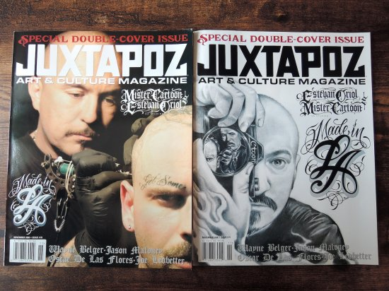 Estevan Oriol X Mister Cartoon Juxtapoz Special Double Cover Issue 2冊組