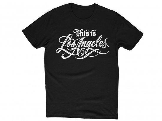 ESTEVAN ORIOL エステヴァンオリオール THIS IS LOS ANGELES T-SHIRT BLACK