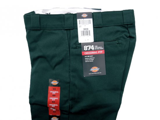 Dickies ディッキーズ Original 874 Work Pants  GH  ハンターグリーン USA規格 L32