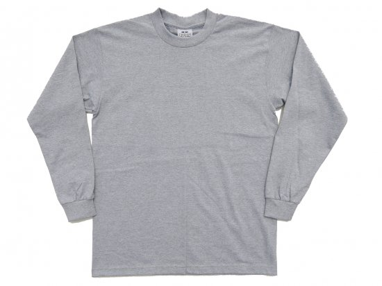 PRO CLUB プロクラブ  Men's Heavyweight Long Sleeve Tee H.GREY