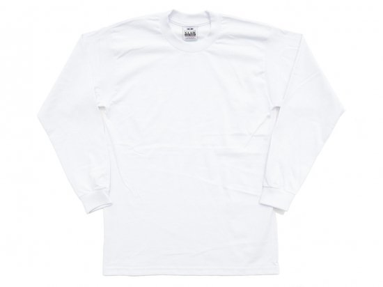 PRO CLUB プロクラブ  Men's Heavyweight Long Sleeve Tee WHITE