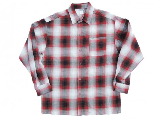 CalTop キャルトップ Long Sleeve Flannel Shirt フランネルシャツ RED & WHITE