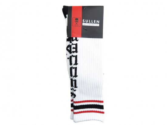 SULLEN CLOTHING LIVE FAST SOCKS WHT/BLK/RED