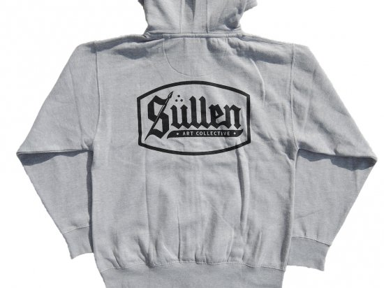 SULLEN CLOTHING CASTOR ZIP HOODIE ATHLETIC HEATHER GRAY