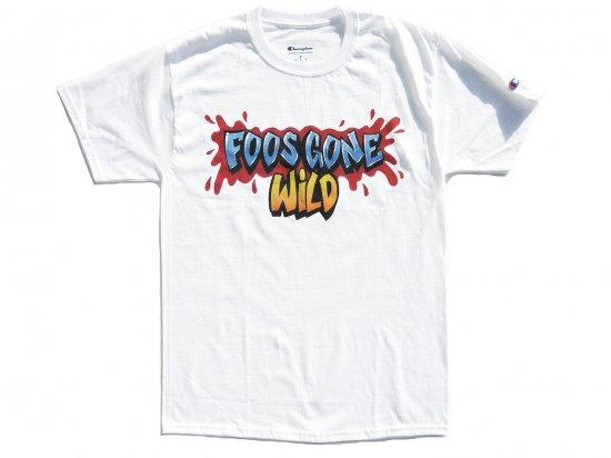 FOOS GONE WILD  LOGO WHITE TEE