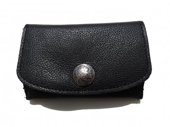 <img class='new_mark_img1' src='https://img.shop-pro.jp/img/new/icons53.gif' style='border:none;display:inline;margin:0px;padding:0px;width:auto;' />LEATHER  MINI CLUTCH WALLET INDIAN  レザー ミニクラッチ財布 Black