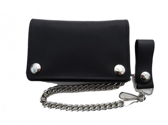 OIL TANNED LEATHER SHORT CHAIN  WALLET  チェーンつき ショートウォレット オイルタン BLACK  USA製