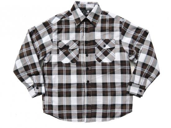 YAGO FLANNEL JACKET フランネル キルティングシャツジャケット #22D
