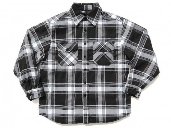YAGO FLANNEL JACKET フランネル キルティングシャツジャケット #F1