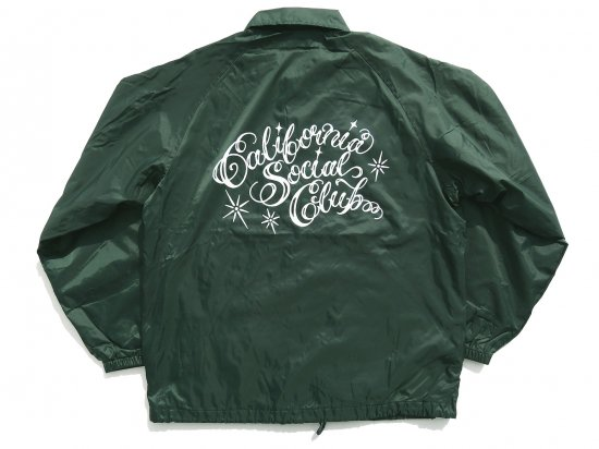California Social Club SHOP VAN Coaches Jacket コーチジャケット DARK GREEN