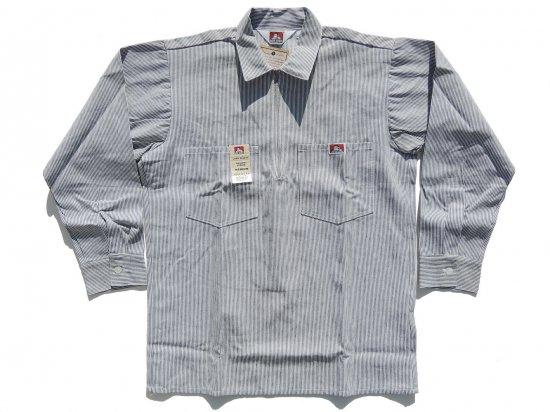 BEN DAVIS ベンデイビス Long  Sleeved Stripes 1/2 ZIP ハーフジップワークシャツ 長袖 1/2 Zip Hickory ヒッコリー