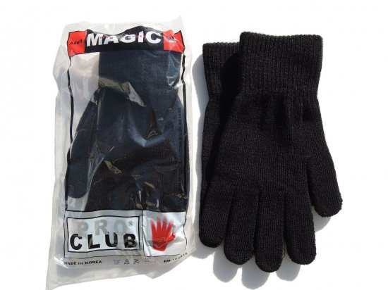 <img class='new_mark_img1' src='https://img.shop-pro.jp/img/new/icons53.gif' style='border:none;display:inline;margin:0px;padding:0px;width:auto;' />PRO CLUB プロクラブ  KNIT GLOVE グローブ BLACK ブラック