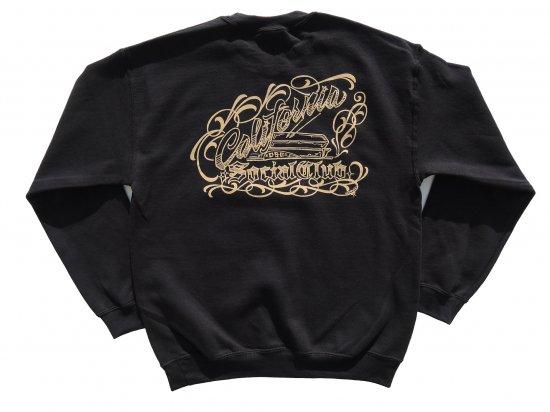 Cholo's Custom X California Social Club Collaboration SWEATSHIRTS スウェットシャツ BLACK ブラック