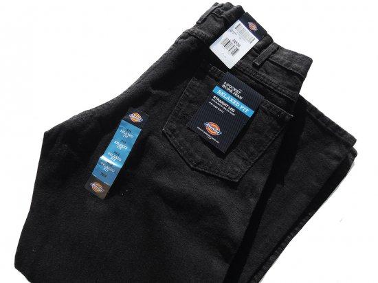 Dickies ディッキーズ  #13292 RBB 5-Pocket Work Jean  Relaxed Straight Leg ブラックデニム  USA規格