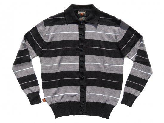 FB COUNTY  Long Sleeve Charlie Brown Shirt  Black x Grey x White