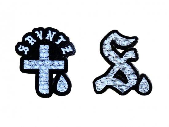 SRVNTZ サーヴァンツ Logo Pin / S Drop Pin