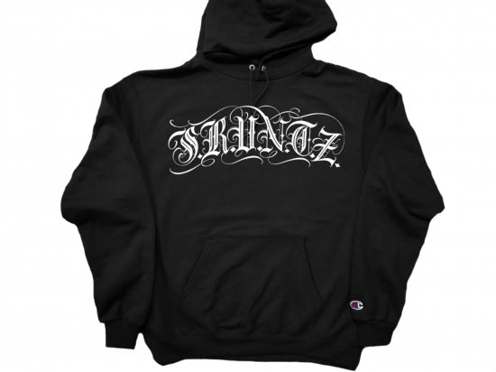 SRVNTZ サーヴァンツ Script Premium Black  *Champion  Pullover Hoodie  フーディー