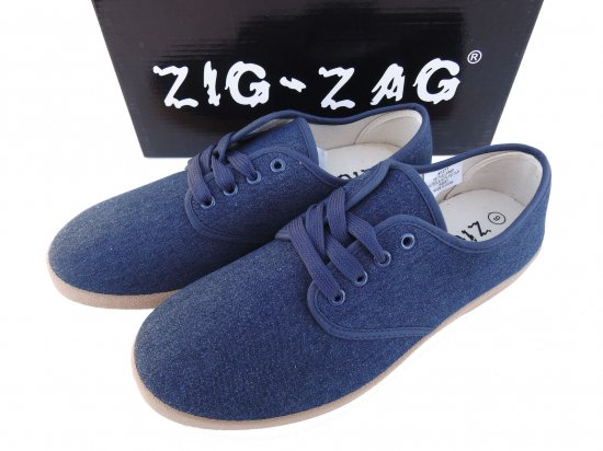 ZIG ZAG  Winos Shoes Lace Up Blue Denim /Brown Sole  #7271  デニム