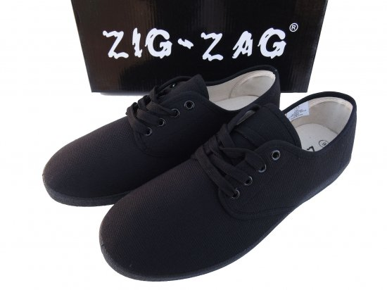 ZIG ZAG  Winos Shoes Lace Up Black /Black Sole  #7204  BKBK