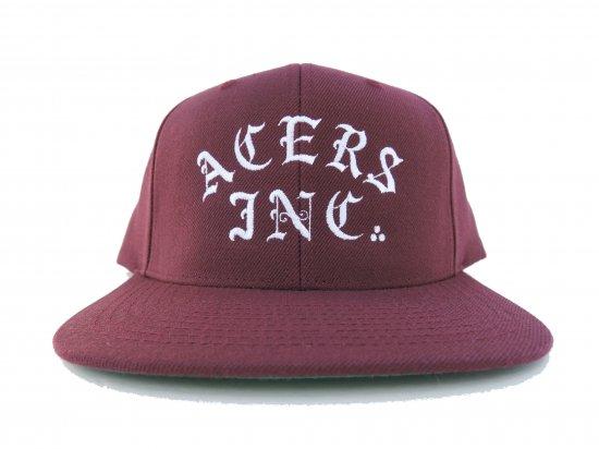 ACERS INC. エーサーズ   3DOTS SNAPBACK CAP BURGUNDY