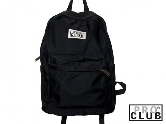 <img class='new_mark_img1' src='https://img.shop-pro.jp/img/new/icons53.gif' style='border:none;display:inline;margin:0px;padding:0px;width:auto;' />PRO CLUB プロクラブ  Backpack  #1550 BLACK