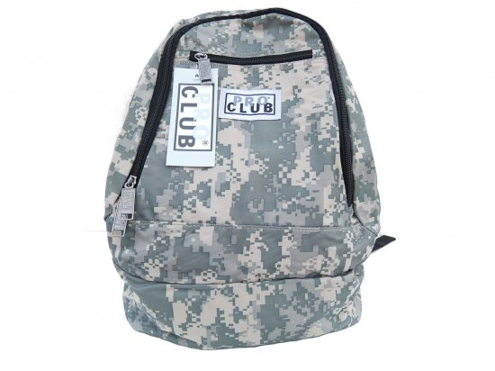 PRO CLUB プロクラブ  Backpack #2100 Green Camo
