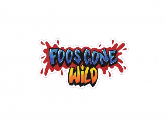 FOOS GONE WILD  Logo Die Cut Sticker ロゴステッカー
