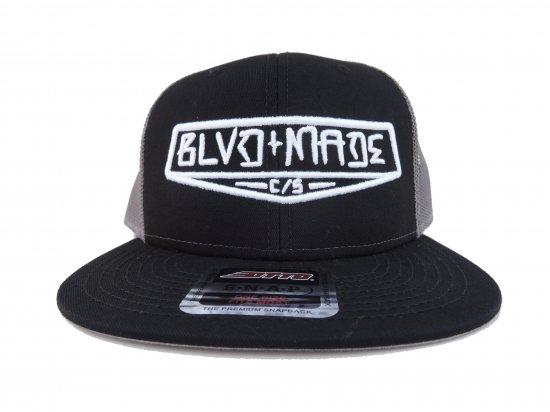 BLVD MADE ブールバードメイド  Trucker Hat  Black x Grey
