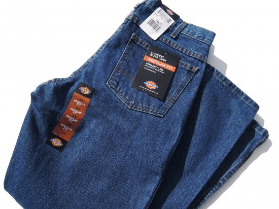 Dickies ディッキーズ  #9393  Regular Straight Fit 5 Pocket Denim Jeans  ストーンウォッシュ #9393SNB  USA規格 L32