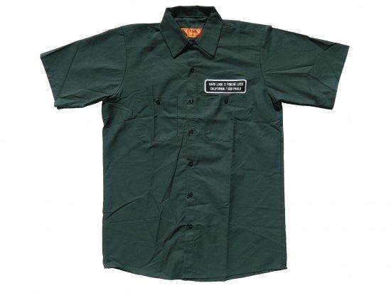 Hard Luck x Pinche  Loco Original  Short Sleeve Work Shirt GREEN ハードラックxピンチェロコオリジナル ワークシャツ