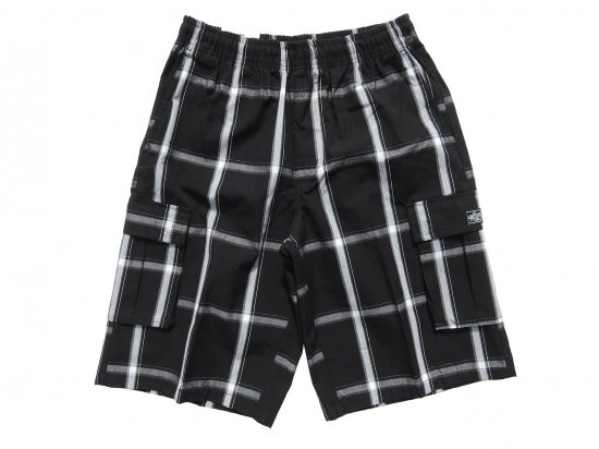 <img class='new_mark_img1' src='https://img.shop-pro.jp/img/new/icons15.gif' style='border:none;display:inline;margin:0px;padding:0px;width:auto;' />SHAKA WEAR  PLAID  SHORT PANTS  シャカ チェックショーツ #BLACK